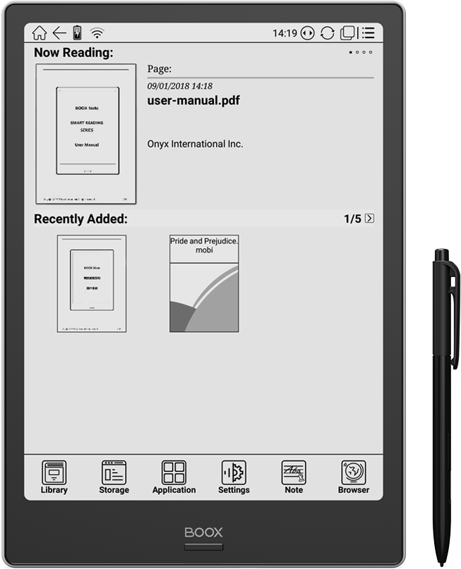 ONYX BOOX Note Plus eReader :: ONYX BOOX electronic books